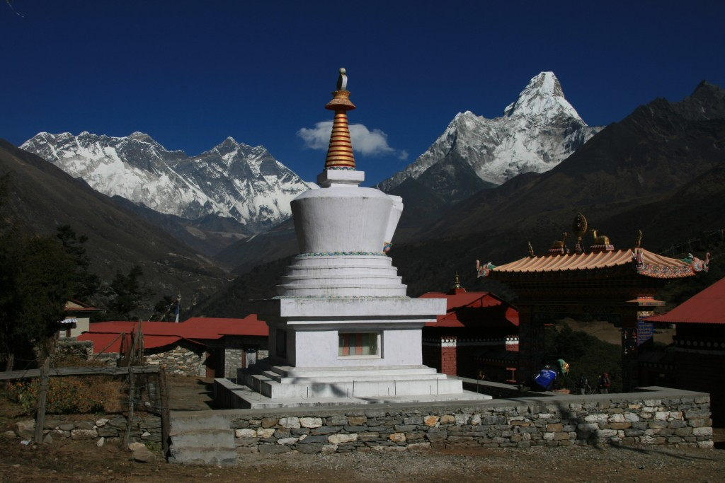 Ama Dablam from Tengboche.