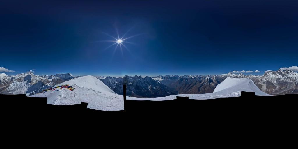 Ama Dablam 360º x 180º summit panorama